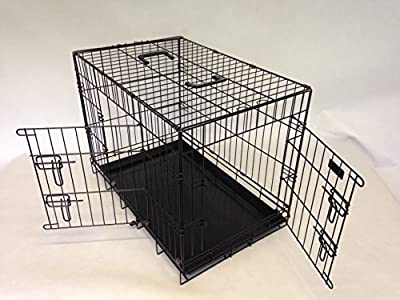 Tough Black coated dog cage medium 30 inch