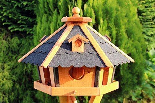 Großes Vogelhaus, Vogelhäuser Vogelhäuschen Typ 24 (Schwarz)