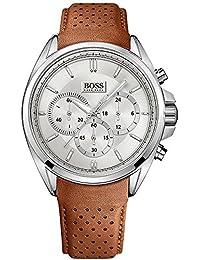 Hugo Boss 1513118 - Reloj de pulsera hombre, piel, color marrón