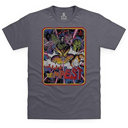 Official Atari Tempest T-Shirt, Herren Anthrazit