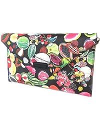 Creator / umschlag kupplungstasche 'Christian Lacroix'schwarz gefärbt (frucht)- 31x19x3 cm.