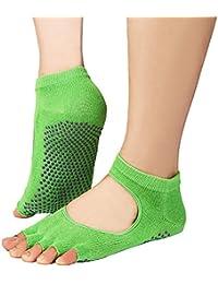 chengsan Yoga mitad Dedos calcetines silicona, Ballet/Pilates elásticos Calcetines de las mujeres &