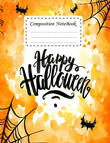 : Happy halloween Notebook Journal College Ruled School Office Home Student Teacher 8.5x11 Incheh 120 Pages Writer's Notebook (Student School Office Supplies Notebook, Band 11) ()