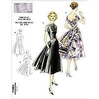 Vogue Patterns The McCall Pattern Company V1084 - Patrón de costura para vestidos de mujer (tallas 42-48)