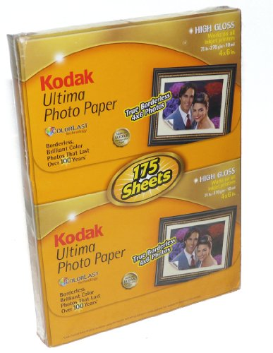 Kodak ultima photo paper – 4 x 6 – 175 sheets – high gloss by kodak
