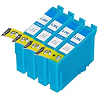 King of Flash High Quality Compatible [4 Cyan] Epson 29XL Ink Cartridges For Epson Expression Home XP-235, XP-245, XP-332, XP-335, XP-342, XP-432, XP-435, XP-442, XP-445, XP-247, XP-345 High Capacity Ink Cartridges