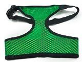 Netz Hundegeschirr Welpengeschirr Weste Hundehalsband Verstellbare Brustgeschirr für Kleine Hunde Grün XL