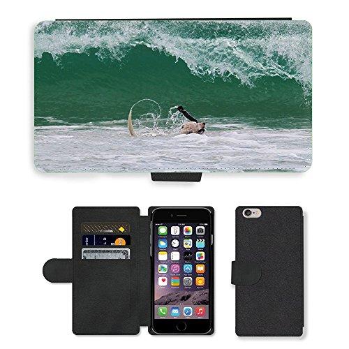 Just Mobile pour Hot Style Téléphone portable étui portefeuille en cuir PU avec fente pour carte//m00138248chien Wave matraques Broyeur Vaporisateur Bain//Apple iPhone 6Plus 14cm