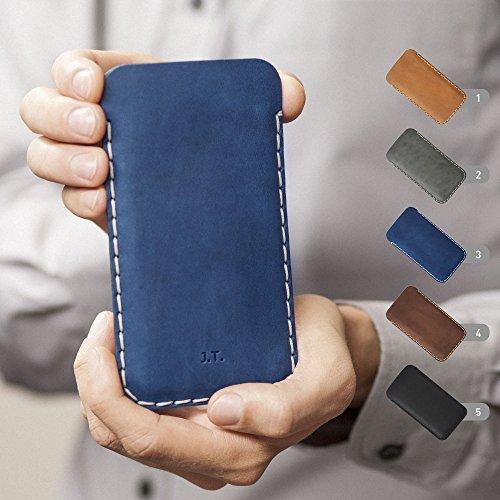 Housse en cuir pour OnePlus 7 Pro, 7, 6T, 6, 5T, 5, 3T, 3, 2, One, X, Plus étui personnalisé pochette case coque cover monogramme inscrivez ... 4