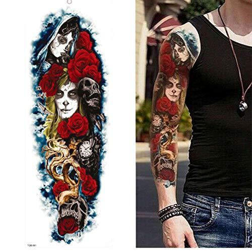 Full Arm Leg Extra Große Temporäre Tattoos, Body Art Für Männer Und Frauen - Wolf, Tiger, Bär, Krieger, 17Cm - Erstellen Sie Ein Wolf Kostüm