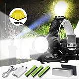 lliang Linterna Frontal 90000lm Xhp70 Lámpara de Cabeza de Alta Potencia Led Recarga Cabeza Antorcha Linterna