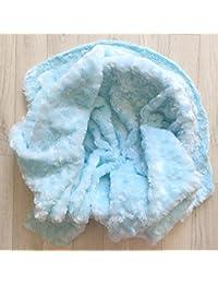 Pose bébé backdrop rosette velours, modèle bleu clair