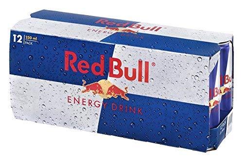 Red Bull Energy Drink Dosen Getränke 12er Palette, EINWEG (12 x 250 ml) - Funktion Getränke