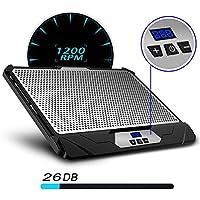 Klim K300Swift Soporte con Ventilador Velocidad Ajustable Ventilador PC portátil 2Ventiladores
