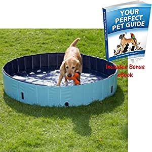 durable plastic dog paddling pool includes cover to. Black Bedroom Furniture Sets. Home Design Ideas