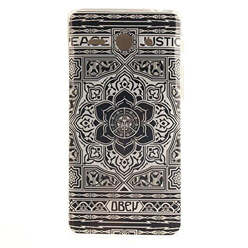 Huawei Ascend Y530 Hülle,MCHSHOP Ultra Slim Skin Gel Schlank TPU Case Schutzhülle Silikon Silicone Schutzhülle Case Back Cover für Huawei Ascend Y530 - 1 Kostenlose Stylus Pen (Vans von der wand) Blumen Tribal Aztec