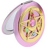 Pywee Sailor Moon - Specchio da trucco portatile, con doppio specchio pieghevole