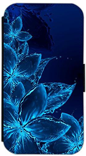 Flip Cover für Apple iPhone 5 5s Design 728 Marienkäfer mit Regenschirm Lustig süß Rot Grün Hülle aus Kunst-Leder Handytasche Etui Schutzhülle Case Wallet Buchflip (728) 723