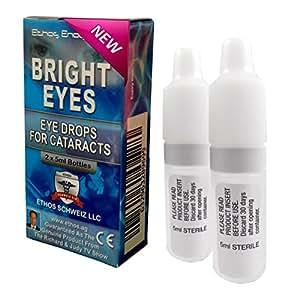 Ethos - Collyre Bright Eyes à la carnosine - traitement de la cataracte/yeux secs ou fatigués - gouttes apaisantes naturelles à la N-acétyl-L-carnosine (NAC) - protégez votre vision avec le meilleur traitement disponible sur le marché