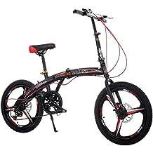 Bicicleta Plegable, Bicicleta De Velocidad Variable, Bicicleta Portátil Para Adultos De 20 Pulgadas Para