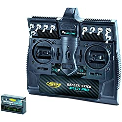 Manual de radio Carson Reflex Stick PRO MULTI 14 de 2,4 GHz Número de salidas: 14