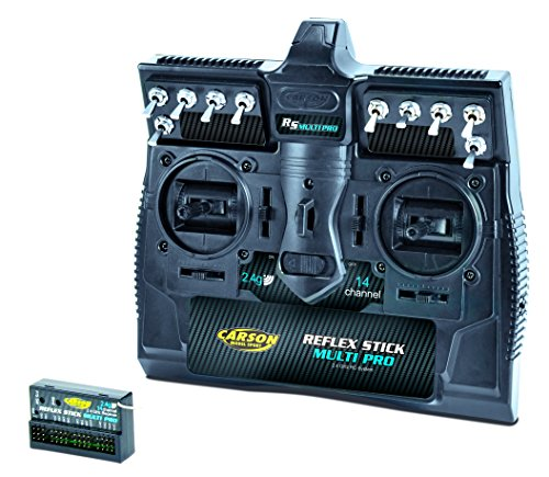 fernsteuerung 6 kanal Carson 500501003 - Reflex Stick Multi Pro 2.4 GHz, 14 Kanal