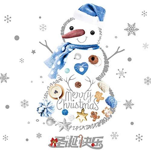 Weihnachten schneemann fenster aufkleber vinyl diy wandtattoos für wohnzimmer schlafzimmer shop glas neujahr dekoration 69 * 65 cm
