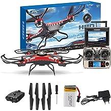 Malloom® Mejorar JJRC H8D 4CH 5.8G FPV RC Quadcopter Drone HD camara + monitor + 4 Batería