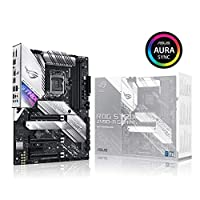 ‏‪ASUS ROG Strix Z490-A Gaming Z490 LGA 1200(Intel 10th Gen) ATX White Scheme Gaming Motherboard (12+2 Power Stages, DDR4 4600, Intel 2.5 Gb Ethernet, USB 3.2 Gen 2, Aura Sync)‬‏