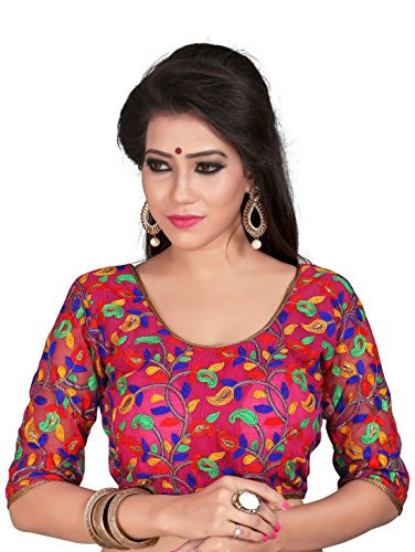Women Ethnic Women'S Cotton Saree Blouse (2112_Multi-Coloured_Free Size)
