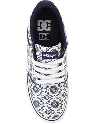 DC Shoes Mikey Taylor Vulc SP - Chaussures basses pour femme ADJS300106 Blanc - White/Navy