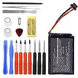 subtel Batterie premium pour TomTom 4FL50 4FL60 Go 5000 Go 5100 Go 6000 Go 6100 Pro Truck 5250 incl. Set de micro vissage (1100mAh) AHA11111008,VFAD Batterie de rechange, Accu remplacement