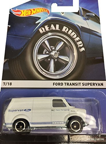 Hot Wheels Real Riders 2015 Heritage Series 7 of 18 Ford Transit SuperVan in White by Hot Wheels