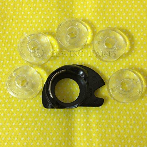 Singer, cestello per bobina e 5 bobine per macchine da cucire Singer, prodotti di alta qualità