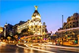 Posterlounge Cuadro de Aluminio 60 x 40 cm: Metropolis Hotel in Madrid de Matteo Colombo