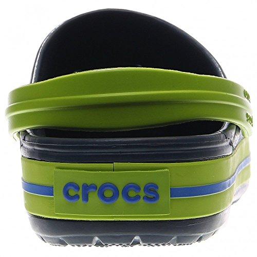 Crocs Band, Sabots mixte enfant navy-volt green (11016-4K6)
