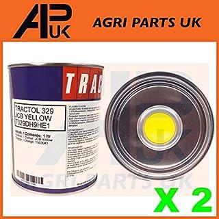 APUK 2 Liter JCB Bagger gelb Traktolfarbe 2L Maschinen Pflanzen Bagger 3CX Emaille