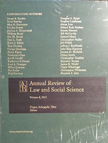 Law Social Science V.08 (Annual Review of Law and Social Science) por Institutional