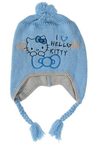 037585badfa5 Bonnet Péruvien enfant fille brodé I love Hello Kitty -4071- bleu 5 8ans