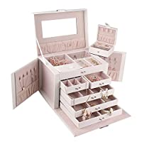ROULING Leather Jewellery Box Travel Case and Lock ZG245