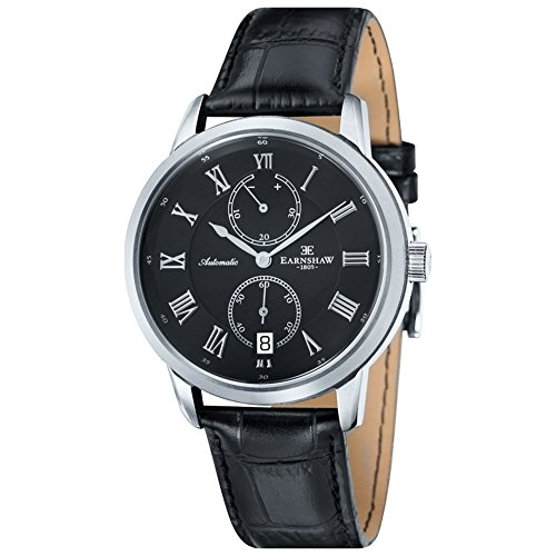 Thomas Earnshaw ES-8035-01 - Reloj para hombres, correa de cuero color negro