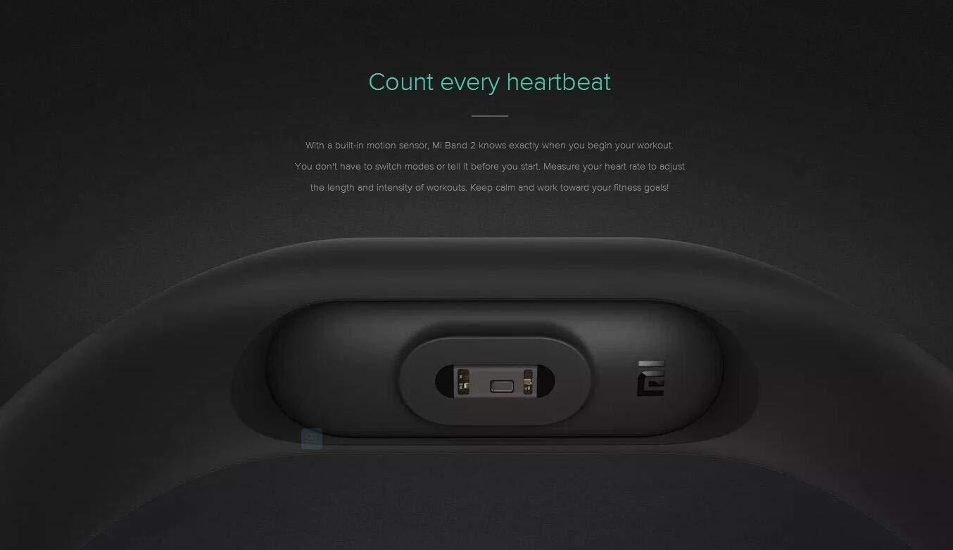 Xiaomi Mi Band 2 Fitness Smartband, Pulsera de actividad, con monitor de ritmo cardíaco, color Negro 7