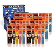 30x Cartuchos de impresora compatible con Canon PGI-550 XL CLI-551 XL (6 Negro, 6 Foto Negro, 6 Cian, 6 Magenta, 6 Amarillo) para Canon Pixma MG-5650 iP-7200 IP-7250 MG-7150 MG-5450 MG-6350 IX-6800 IX-6850 MX-725 MX-925 MX-920 Actualizado Con Nuevos Chips