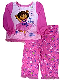 Nickelodeon Infant Girl Dora The Explorer Sleepwear Set What A Party Pajamas 18m