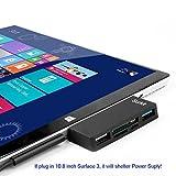 Surface Pro Hub Adapter / Kartenleser, High Speed USB 3.0 Transport und USB 2.0 für Maus oder Tastatur mit SD (HC) Kartensteckplatz und TF Kartenleser für Microsoft Surface Pro 3/4