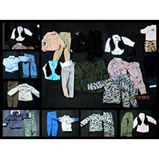 10 x Ken Action Man GI Joe Doll Clothing Outfits Military Casual Style random selection posted from London By Fat-catz