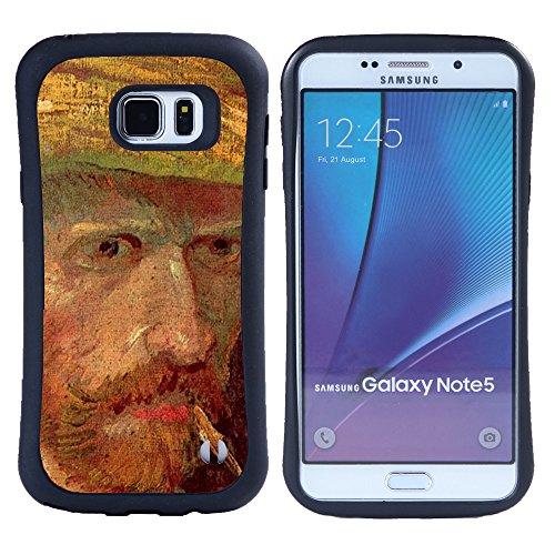 Super Galaxy iFace Slim Fit Seriesdual Layer Rigida Protettiva Custodia Case // V00006239 L'uomo con un cappello di Vin Van Gogh // Samsung Galaxy Note 5 V