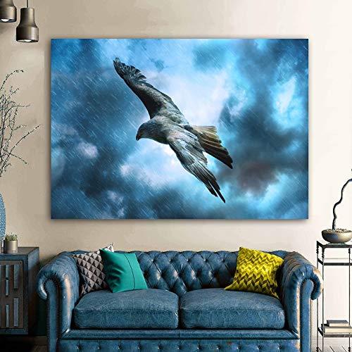 baodanla Dipinto ad Olio Senza Cornice Aquila Uccelli Animali Poster Stampe artistiche su Tela Stampa su Tela per Soggiorno Home Deco30x40cm