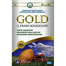 """Mezcla de semillas para alfombra CÉSPED """"GOLD el césped SOLEADO"""" envase de cartón de 1 kg"""