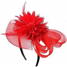 Vococal - Pelo Pasadores Tocado de Diadema con Encaje Floral y Cuero / Accesorios para Cabello para Fiesta de Boda Decorativos Mujer